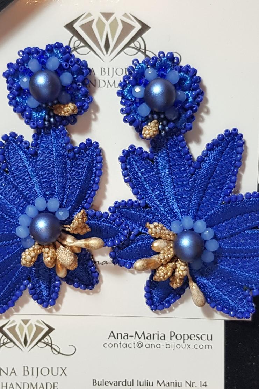 Blue Margret Antic Gold Ana Bijoux Handmade